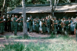 Band plays marching songs in Vietnam