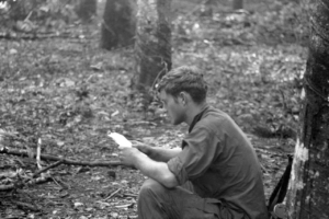 American soldiers in Vietnam are delivered mail anywhere