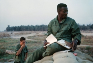 Perimeter duty at Lai Khe, Vietnam 1st Infantry base camp