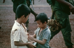 Vietnamese boys gifted with c-rations