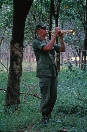 Military memorial service in Vietnam